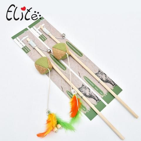 Teaser Feather Wand and  Interactive Toy for Kittens.
