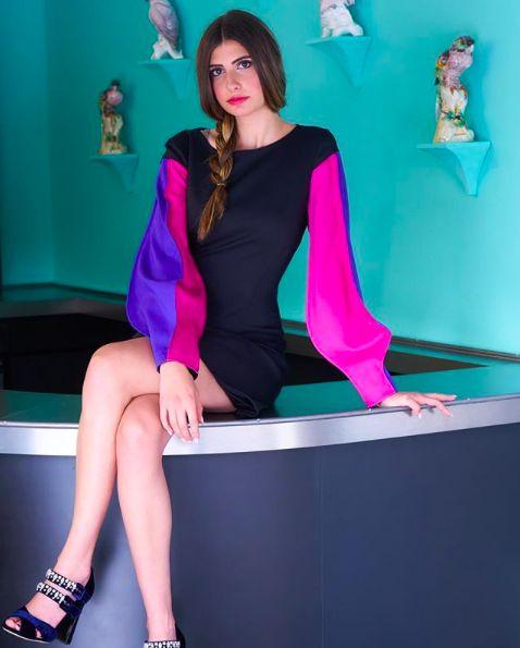 Milli Muse. Capucci dress and Sebastian heels, available at Milli. #capucci #sebastian #milli