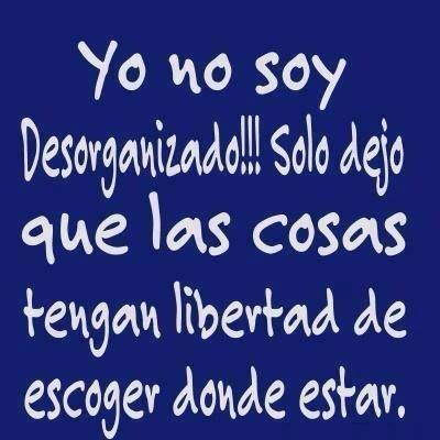 Yo no soy desorganizado!! solo dejo q las cosas tengan libertad - AnsinaEs.com