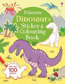 Usborne Dinosaurs Sticker & Colouring Book