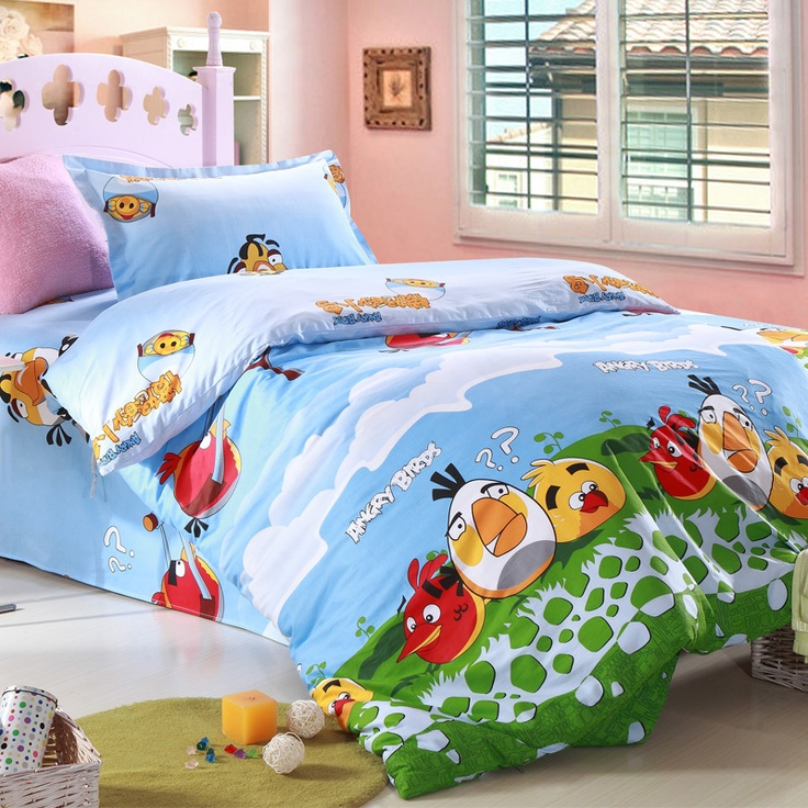 Girls Twin Bedroom With Bird Wallpaper: 59 Best Images About Angry Birds Bedding On Pinterest