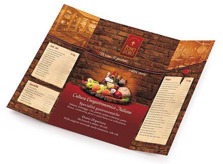 Restaurant website, menu, advertisement design