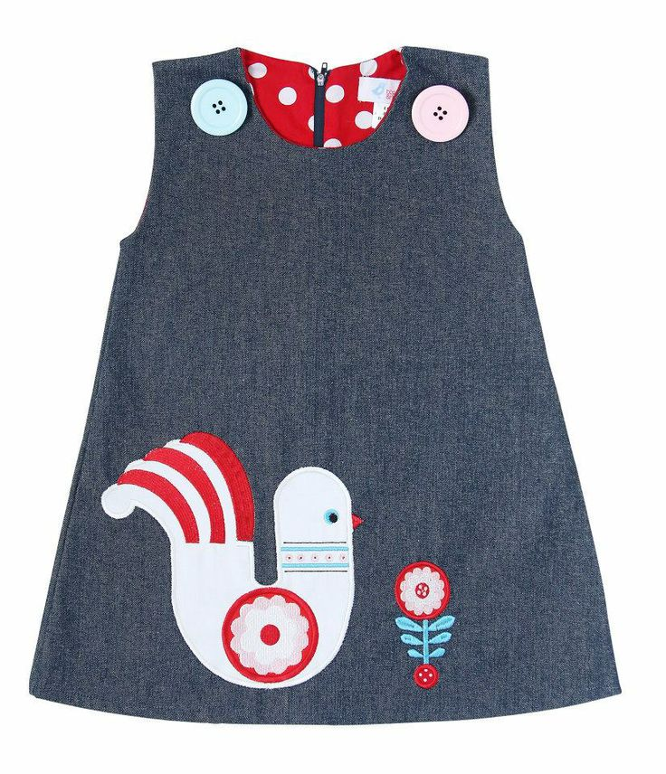 Partridge pinafore dress
