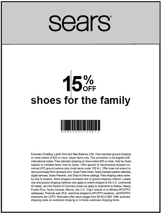 Sears outlet coupon code 2018