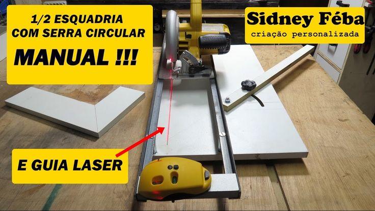 Meia esquadria com serra circular manual, e guia laser. ferramenta muito útil nos trabalhos de corte em grau, de 0 á 45°. CRÉDITOS: Follow Laszlo: https://ww...