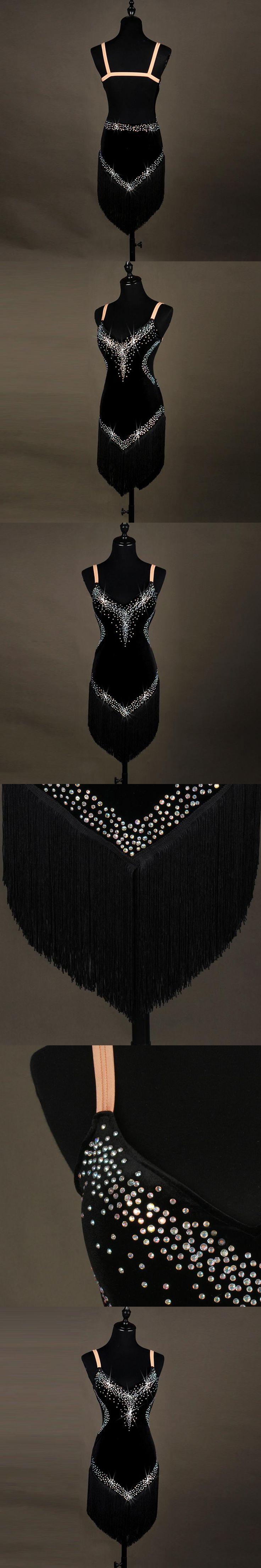 black tango dress ladies tassel latino dance dress samba latin dance costumes for women latin dresses for girls competition