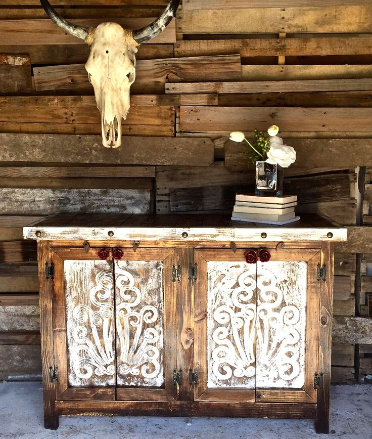 Awesome Agave Rose Door Buffet   Sofiau0027s Rustic Furniture
