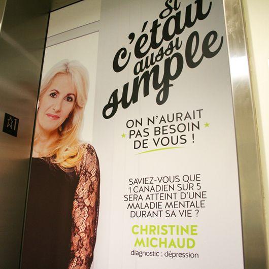 Fondation Institut universitaire en santé mentale de Québec / Campagne hiver 2014 - Christine Michaud / Beez Créativité Média