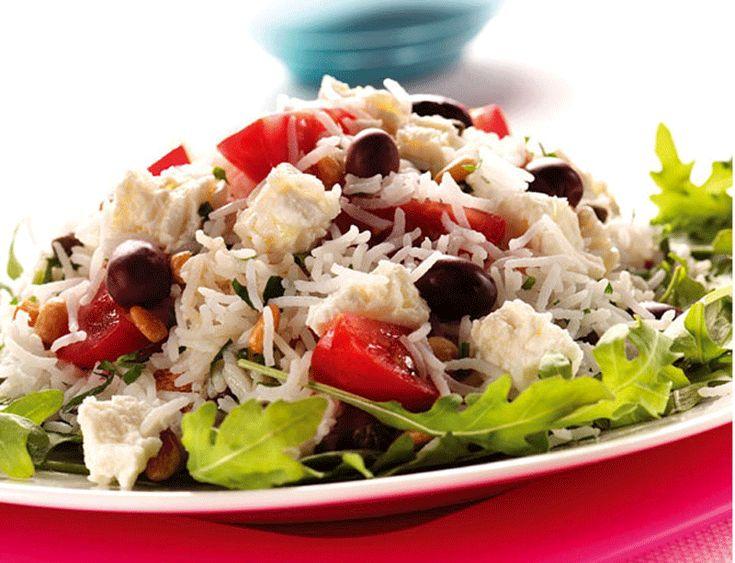 Summery Feta and Avocado rice salad