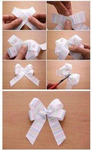 Como hacer un lazo de cinta sencillo ideas para regalos - Lazos con cintas ...