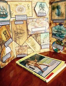 Robinson Crusoe Lap Book Vintage