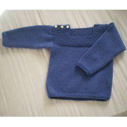 Ce pull tout simple, chaud et facile d'entretien (lavable en machine) se tricote très vite. Taille 2 (4 – 6) ans