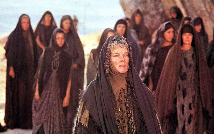 Katherine Hepburn and Vanessa Redgrave starred in The Trojan Women (1971), an adaptation of Euripedes' Greek play. It follows Hecuba - the Queen of the Trojans and mother of Hector - and Andromach - widow of Hector - who must pull their kingdom and lives back together after the Trojan wars and protect Hector's son Astyanax after King Agamemnon decrees he must be killed.