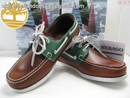 Custom Men's Reddish Brown-Green 2 Eye Boat Timberland Outlet $86.99