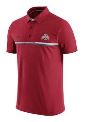 Nike The Ohio State University Mens Red Elite Short Sleeve Polo Shirt