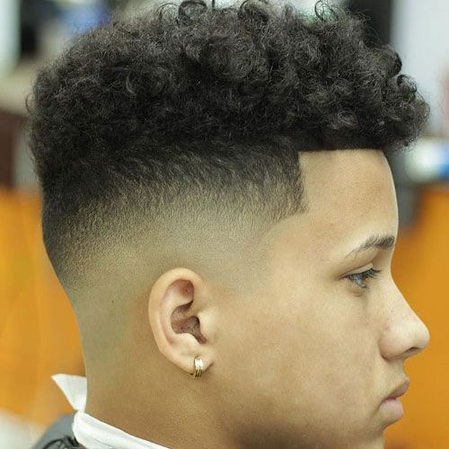 Curly High Top Fade