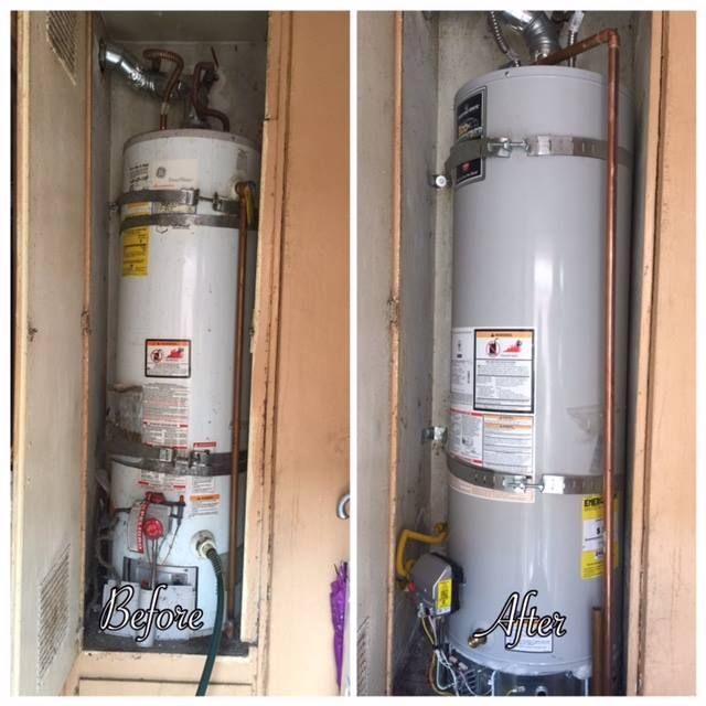 Water Heater Install Before After Water Heater Installation Water Heater Rooter Plumbing