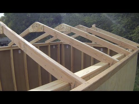 ▶ How To Build A Shed - Part 4 - Building Roof Rafters - YouTube