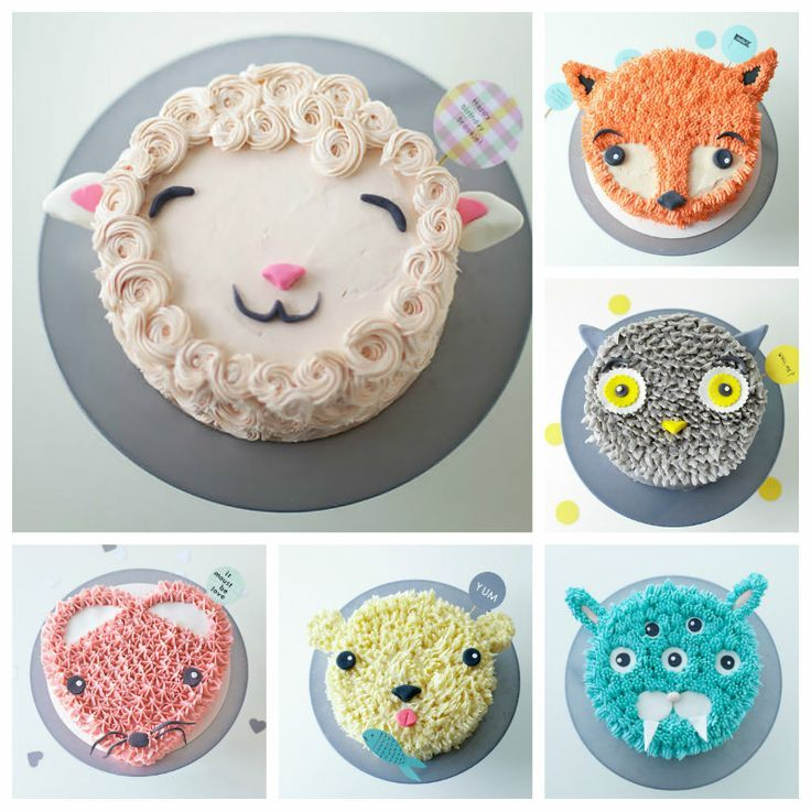 My Pinterest Recipes: Cute Kids Birthday Cakes
