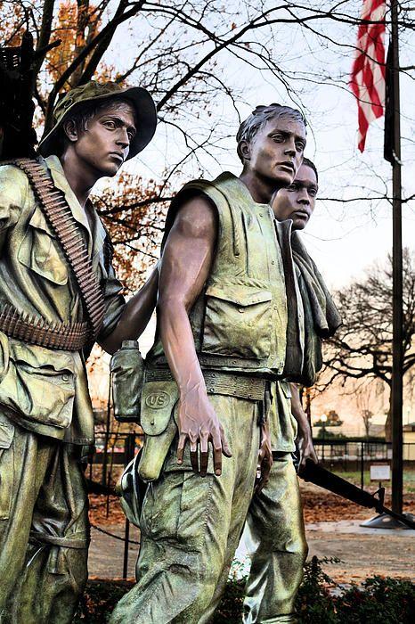 The Three at the Viet Nam Memorial