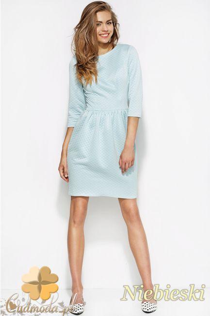Pikowana sukienka damska z dopasowaną górą marki Alore.  #cudmoda #moda #ubrania #styl #sukienki #clothes #dresses