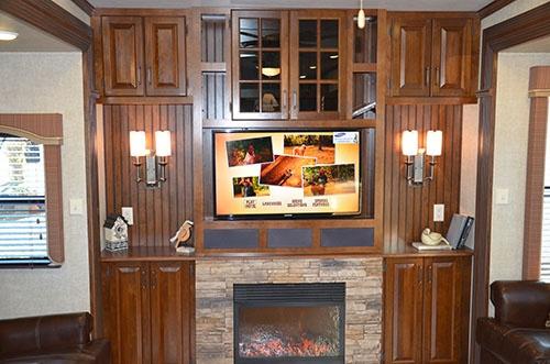 Aviator Rv Floor Plans: Keystone Alpine 3535RE 2013 Fifth Wheel RV Interior Living