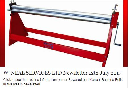 Click to see the exciting information on our WNS Bending Rolls in this weeks newsletter!