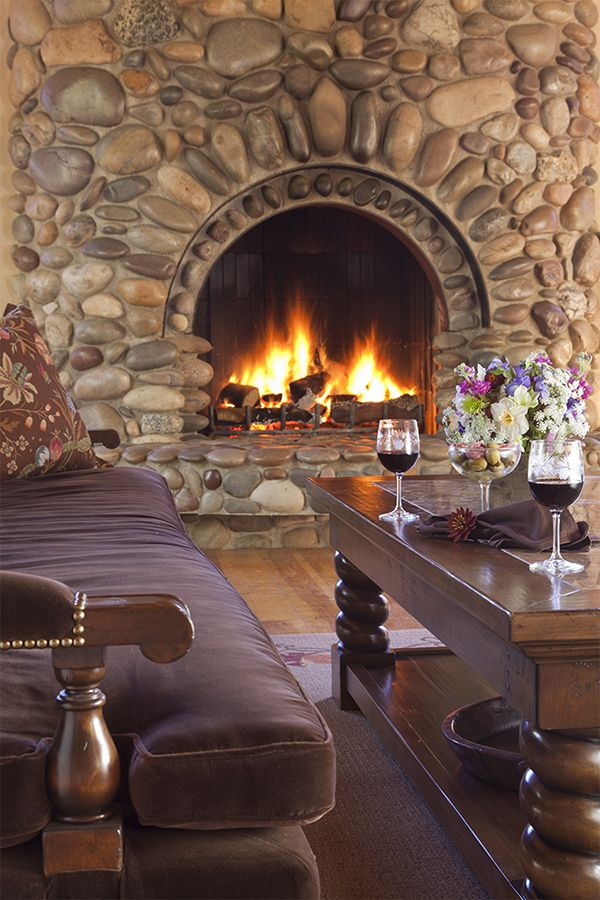 28 best rustic river rock images on pinterest fireplace for Rustic rock fireplace designs
