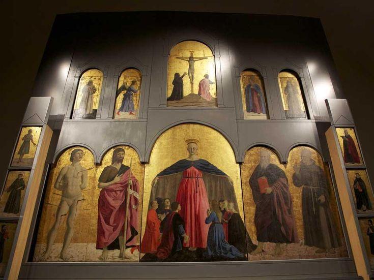 Piero della Francesca, Polittico della Misericordia nel nuovo allestimento. Sansepolcro