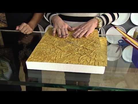 Técnica de moldura para quadros com jornal envelhecido - YouTube