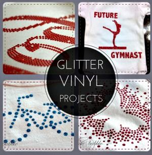 Use glitter vinyl and get the look of rhinestones! It's so much easier! createandbabble.com