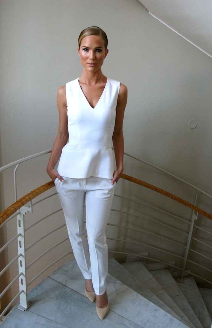 Classic white and peplum