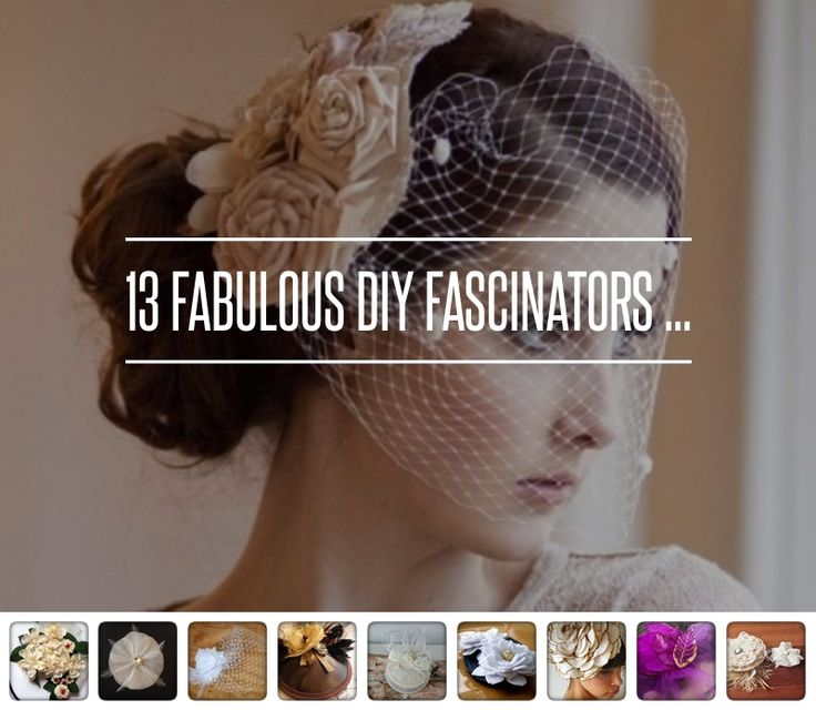 13 #Fabulous DIY Fascinators ... → Hair #Fascinators
