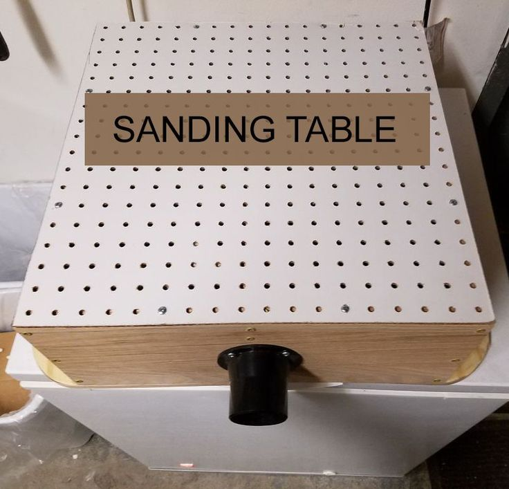 No one wants a dusty workshop. Keep it clean with a DIY sanding table.