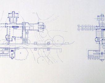 Frank Lloyd Wright McCormick House Blueprint by BlueprintPlace