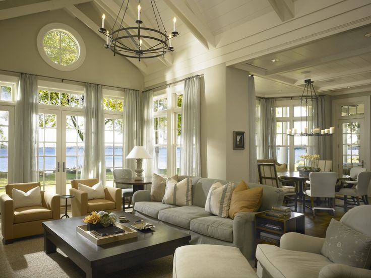 A Beautiful Family Room In Lake Geneva, Wisconsin By Hickman Design  Associates.