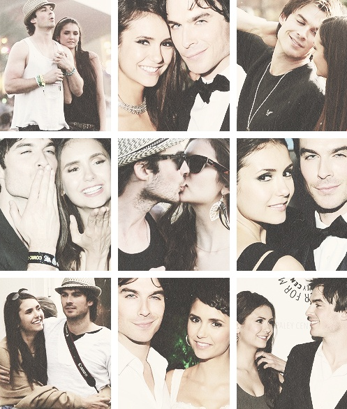 Nina Dobrev and Ian Somerhalder... I'm sad that they broke up right as they get together on the show