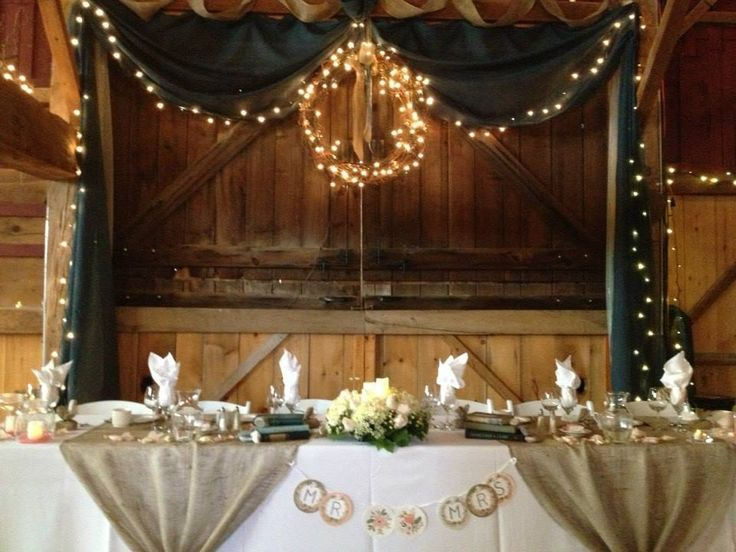 Rustic wedding backdrops backdrop for our headtable - Decoration table des maries ...