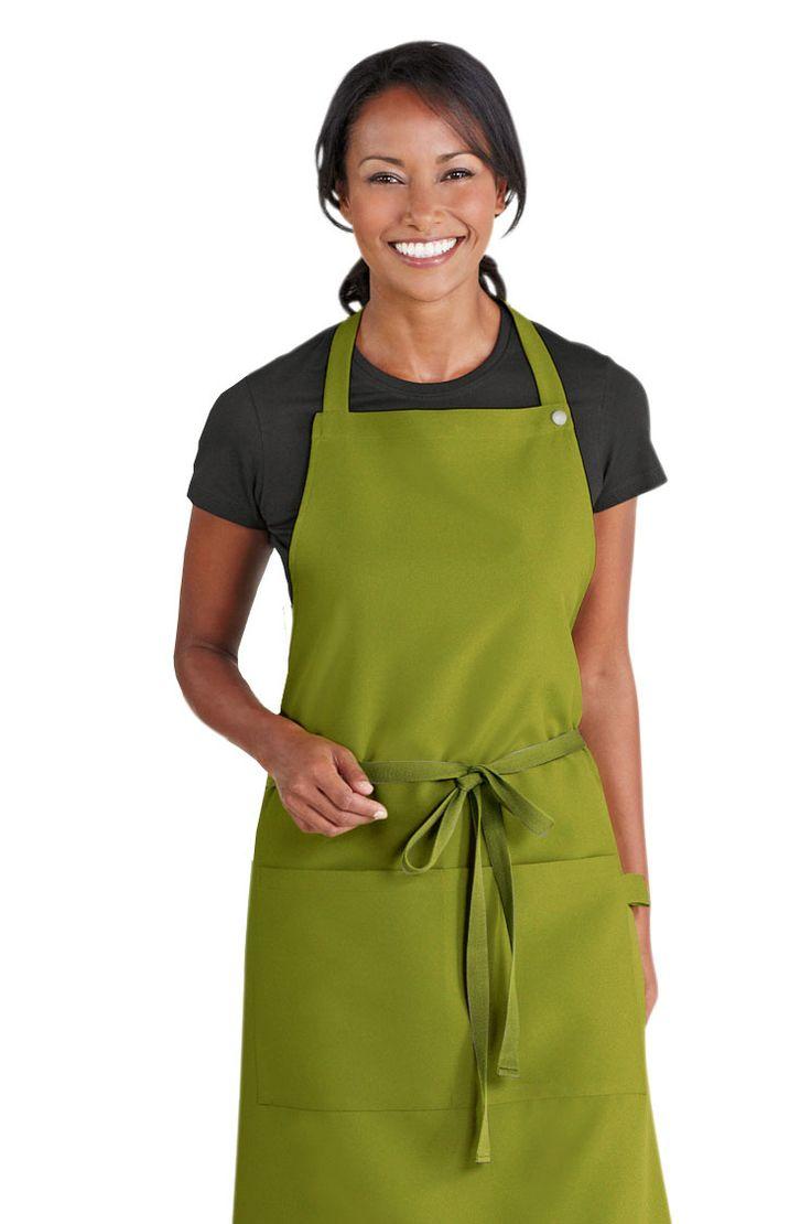 Simon Jersey light olive bib apron from £6.29 // Waiter apron, waitress apron, bar apron, hospitality uniform, waiting uniform, bar uniform, perfect for chefs, kitchen staff, catering, retail, cafes, coffee shops etc.