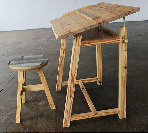 Reclaimed furniture from demolished buildings
