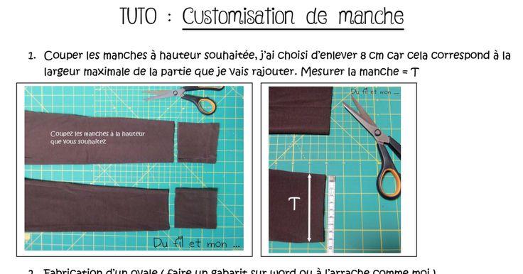Tuto customisation de manche /  blog Du fil et Mon