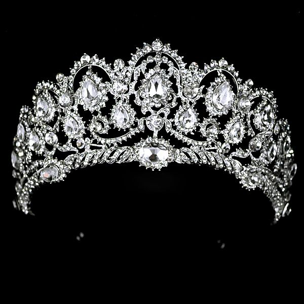 Free Shipping 2013 New Fashion Queen Big rhinestone Wedding Prom Party Pageant Crown Tiara For Sale $37.20