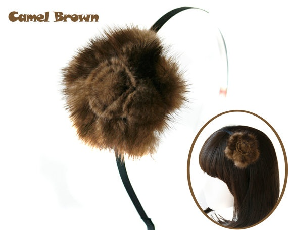Special Real Beautiful Mink Fur Big Flower by Gorgeousstyle, $19.99