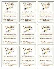 DIY Homemade Vanilla Extract Labels