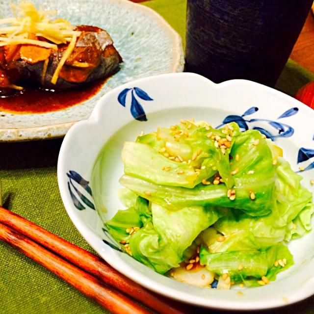 簡単で美味しいって有難いわぁ - 87件のもぐもぐ - きゃべポンと、カジキのアラの煮付け by Noriko