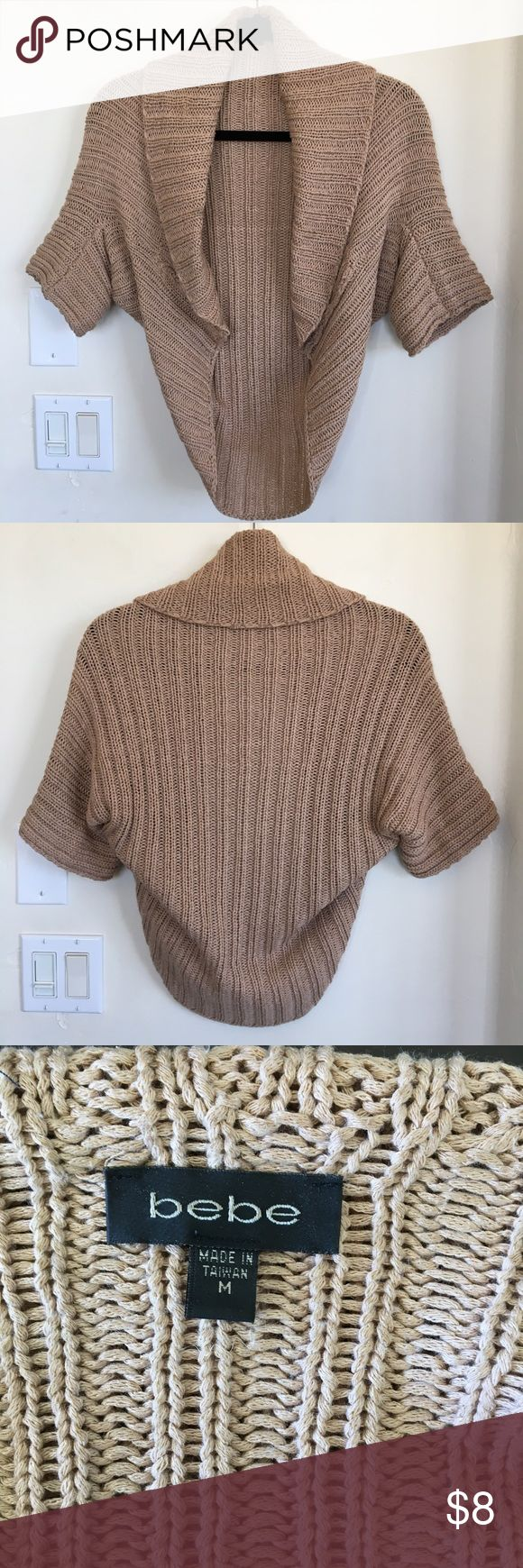 Bebe shrug sweater. Women's size ( M ) Bebe shrug sweater. Women's size ( M ) Great condition. Bebe Sweaters Shrugs & Ponchos
