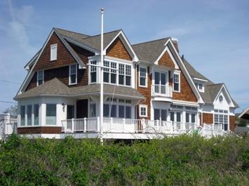 Cedar shake ocean front home, Rhode Island