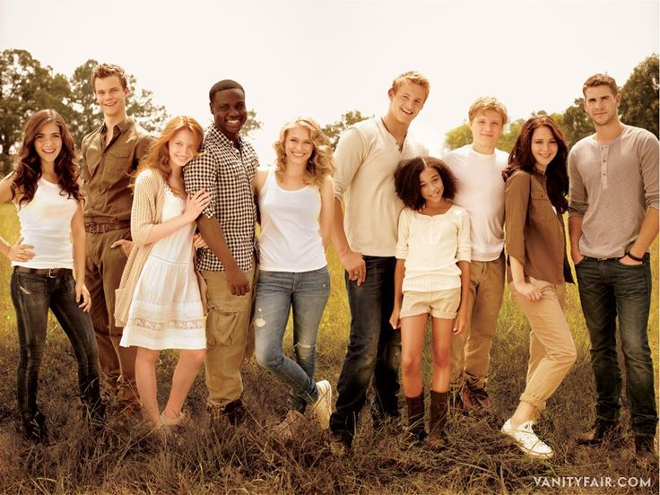 The young cast of the Hunger Games: from left, Isabelle Fuhrman as