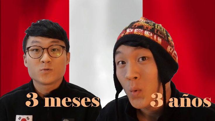 Coreano hablando JERGA PERUANA 3 meses VS 3 años