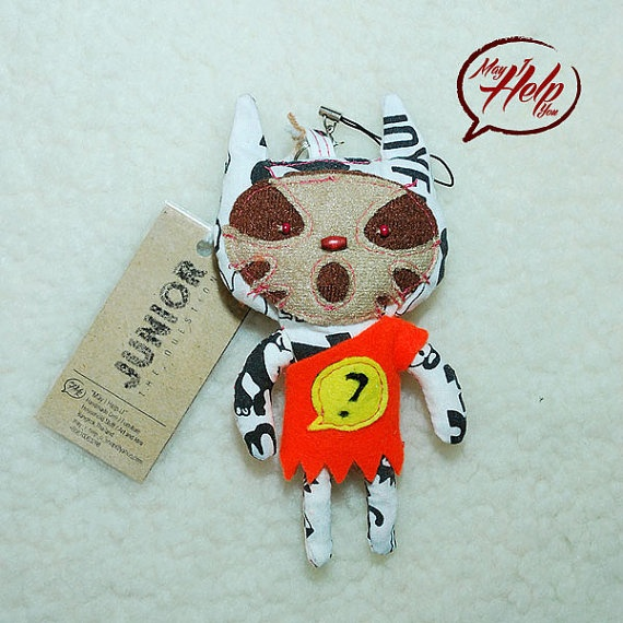 06 Junior The Question 9 Lives Cat Project  Handmade by MayIHelpU, $8.00